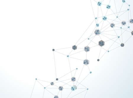 nodes: molecule illustration background with for your text  Illustration