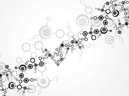 텍스트와 분자 그림 배경