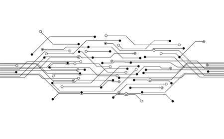 circuitos electricos: placa de circuito de fondo vector azul Vectores