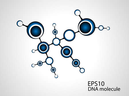 encoded: molecule illustration background with for your text  Illustration