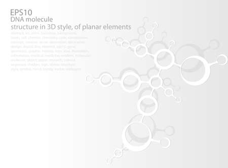 planar: molecular structure in 3D style, of planar elements