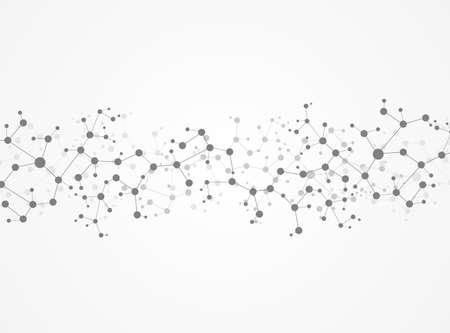 Ilustración Estructura de la molécula de vectores de fondo