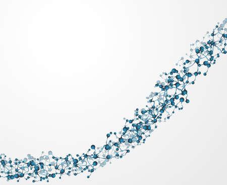dna background: dna molecule, abstract background  Illustration