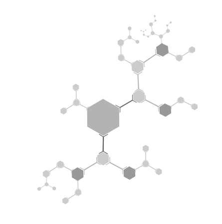 estructura molecular de elementos planos