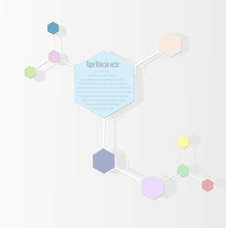 Paper Molecule vector  Stock Vector - 27291398