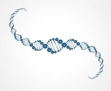 DNA molecule structure background  vector illustration Illustration