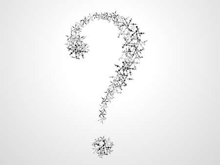 Molecular concepts of medical question mark  Vector