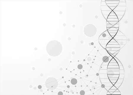 eps10, dna molecule, abstract background