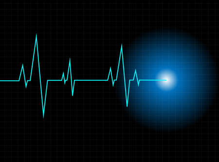 heartbeat line: Vector pulse background