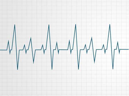 Abstract heart beats cardiogram illustration - vector   イラスト・ベクター素材