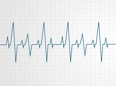 heart: Abstract heart beats cardiogram illustration - vector  Illustration