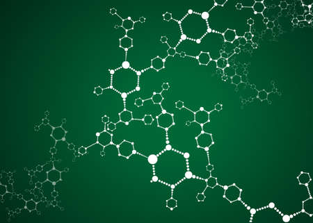 Molecular structures background vector illustration  Vector