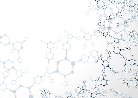 organic chemistry: Molecular structures background vector illustration