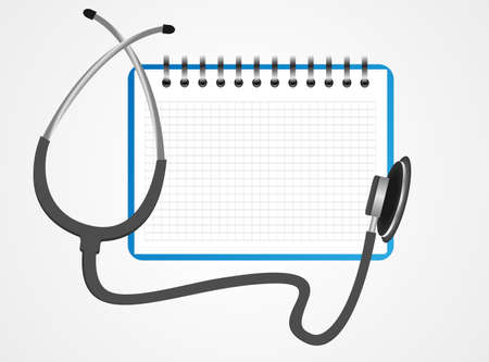 Stethoscope book vector