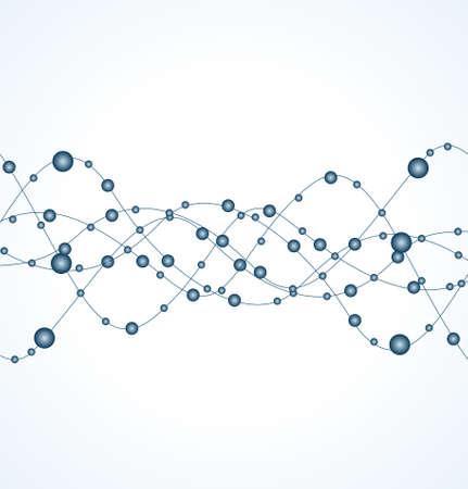 DNA strand against white background  Illustration