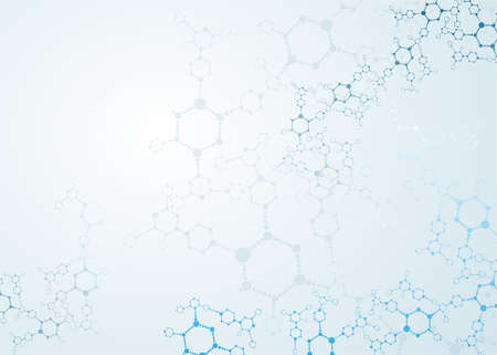 molecule background:  dna molecule, abstract background