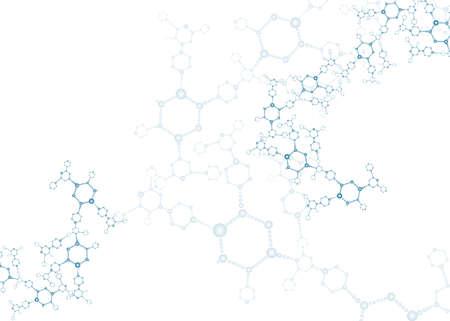 DNA 분자 구조 배경 일러스트