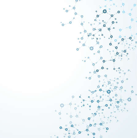 DNA-molecuul, abstracte achtergrond Stock Illustratie