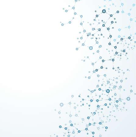 molécula de ADN, resumen de antecedentes Ilustración de vector