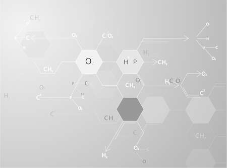 science Medical molecular structures Illustrations Vector  Vector
