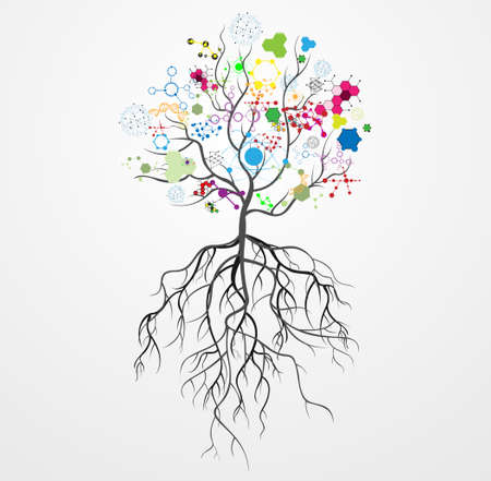 Molecule tree Vector illustration Stock Vector - 28243089