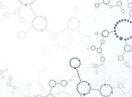 macromolecule: DNA molecule, abstract background