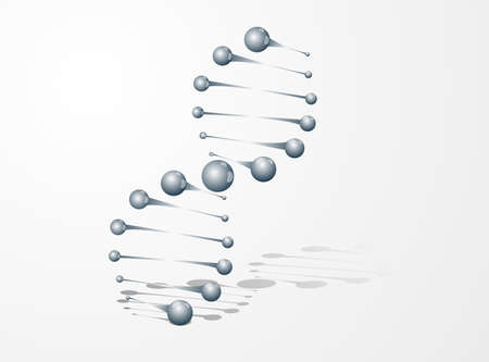 DNA molecule structure background Vector