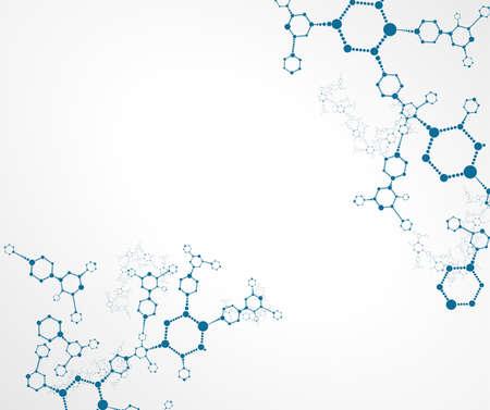 vector  molecular: Molecular structures vector