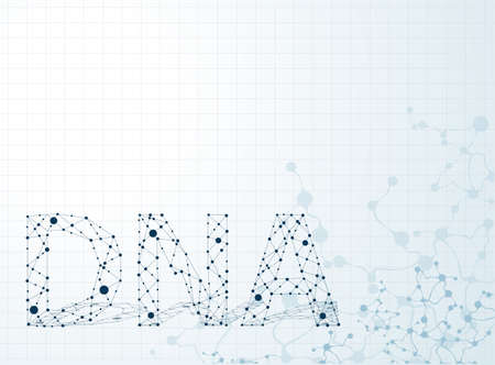 gene: dna molecule, abstract background  Illustration