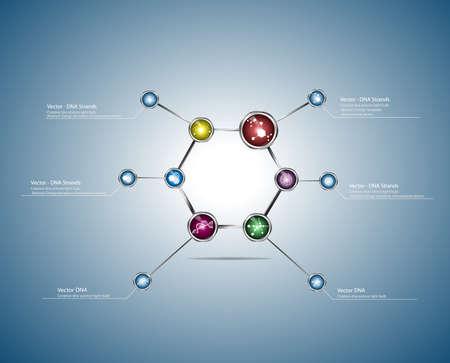 deoxyribose: DNA molecule structure background   Illustration