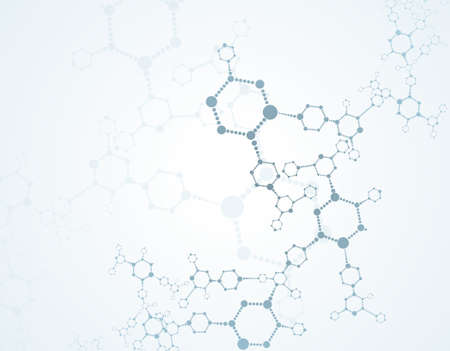 Abstract molecules medical background Imagens - 29031545