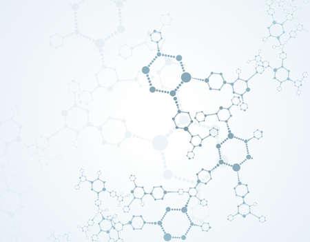membrana cellulare: Priorità molecole sfondo medico Vettoriali