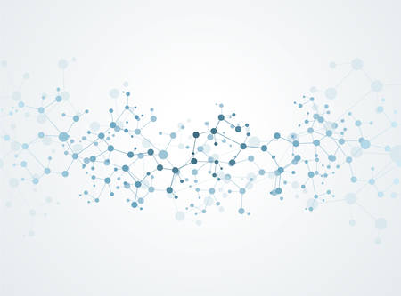 Moleculen Concept van neuronen en het zenuwstelsel vector Stock Illustratie