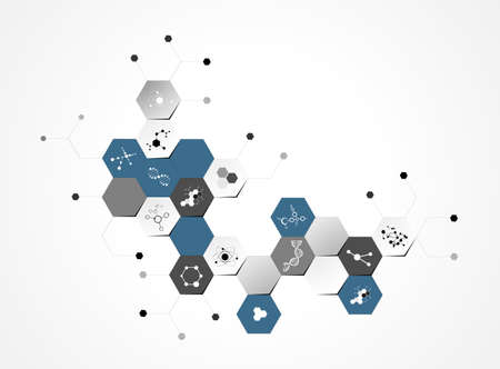 molecules medical background  Vector