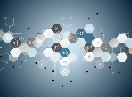 Science molecular structure abstract background Vector