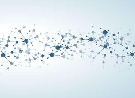 nerveux: Concept mol�cules de neurones et vecteur du syst�me nerveux Illustration
