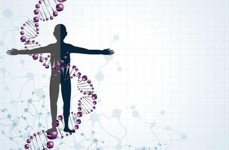 model of man of DNA molecule. Eps 10 Vector