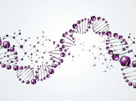 alternating organic: eps, beautiful structure of the DNA molecule