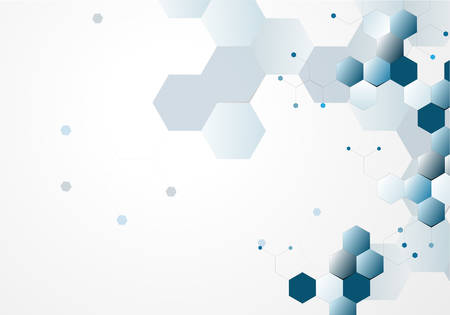 encoded: molecular structure abstract background