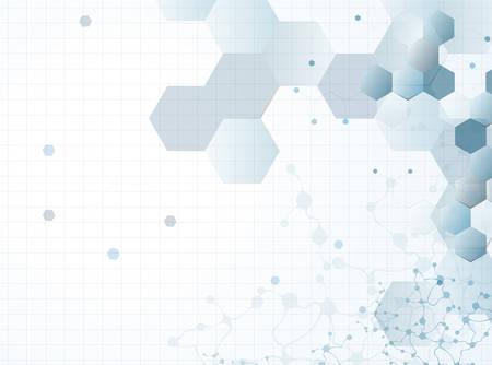 분자 구조 추상적 인 배경