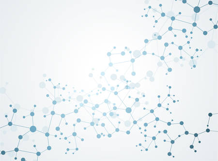 신경 및 신경 시스템 벡터의 분자 개념 일러스트