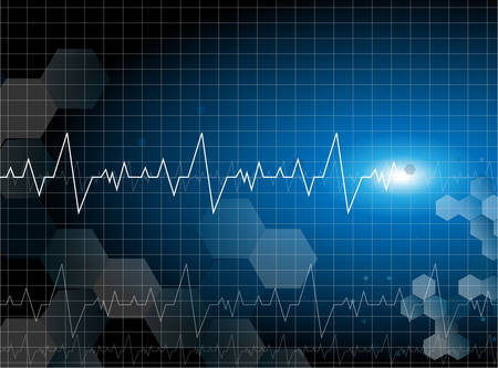 medical cardiac molecular background vector Vector