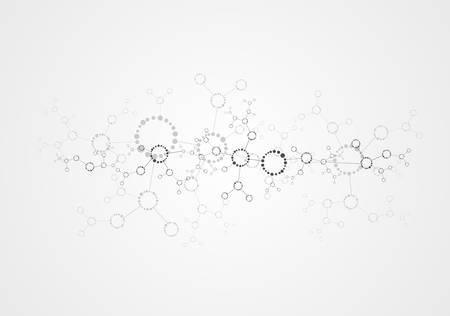 dna molecule, abstract background Vector