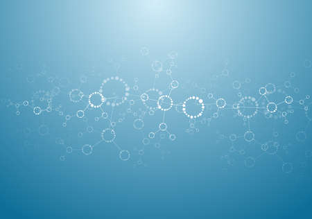 Molecular structures background vector Vector