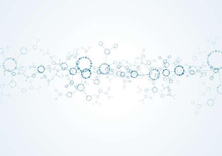 encoded: Molecular structures background vector Illustration