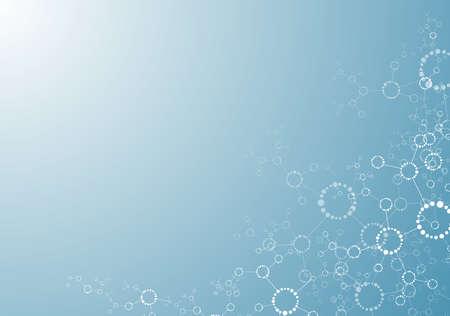 分子構造の背景のベクトル