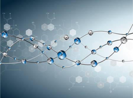 DNA molecule structure background. eps10 vector illustration  イラスト・ベクター素材