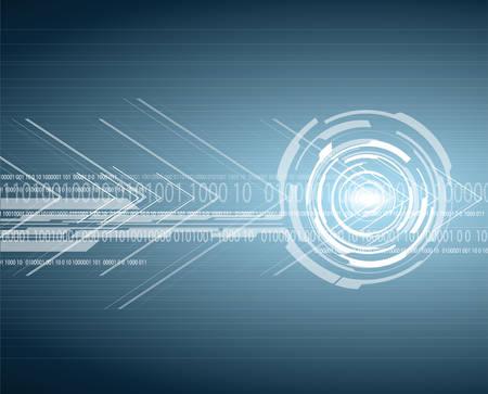 hitech: bright hi-tech circuit board background. Vector design