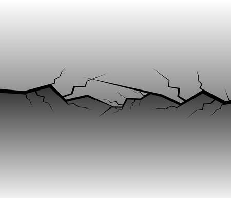 dry land: Crack Vector background Illustration