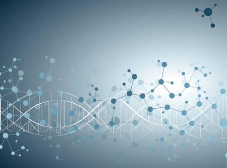 adn humano: Moléculas Concepto de las neuronas y nervioso vector sistema